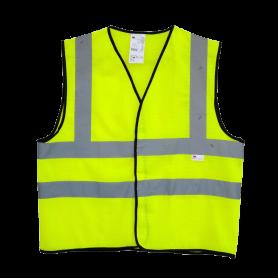 เสื้อกั๊กสะท้อนแสง 3M สีเหลืองมะนาว ไซต์ L