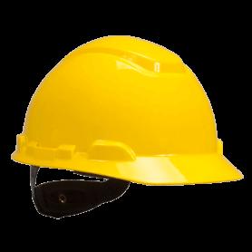 หมวกนิรภัย รุ่น H-701R-Y สีเหลือง แบบปรับหมุน