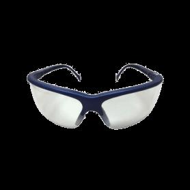 แว่นนิรภัย รุ่น TH-302 กรอบน้ำเงิน เลนส์ Indoor / outdoor