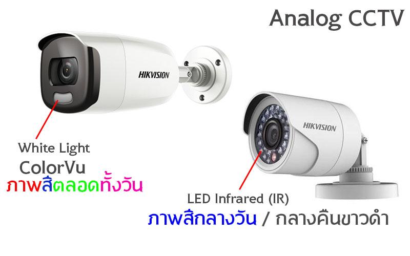 กล้องวงจรปิด ColorVu vs Analog